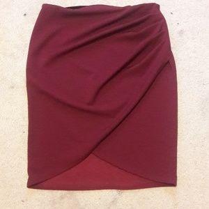 Forever 21 wine pencil skirt